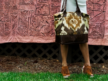 Chocolate Ikat Bogatta Bag