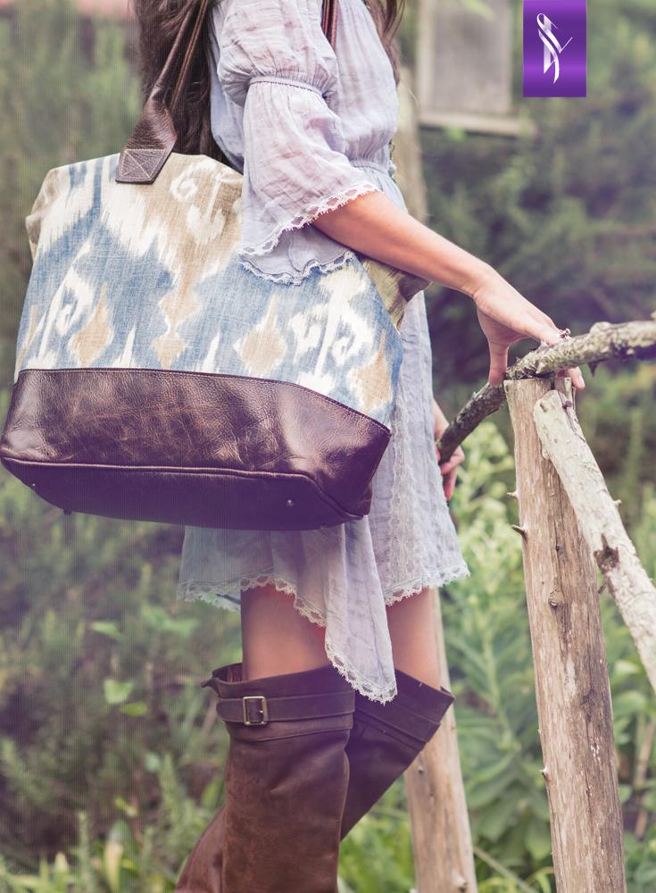 Sky Ikat Bogatta Bag