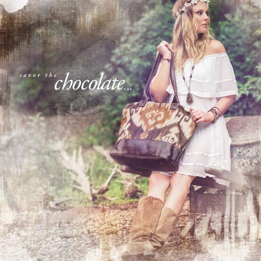 Chocolate Veeshee Bogatta Bag